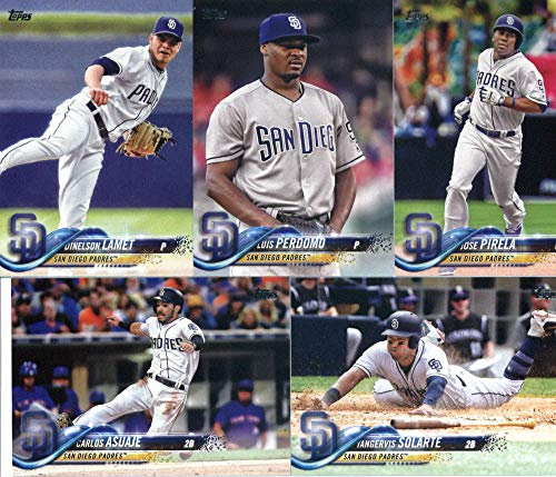 (San Diego Padres 2018 Topps Complete Mint Hand Collated 20 Card Team Set with Wil Myers, Yangervis Solarte and Cory Spangenberg Plus)