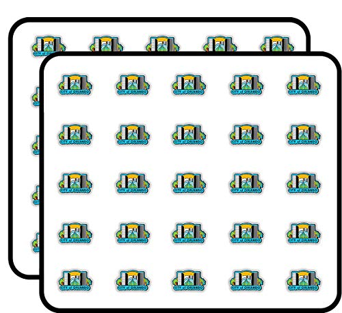 City of Orlando Sticker for Scrapbooking, Calendars, Arts, Kids DIY Crafts, Album, Bullet Journals 50 Pack