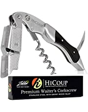 HiCoup Kitchenware Corkscrew Wine Opener - Bottle Openers w/ Foil Cutter for Waiters & Bartenders