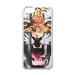 Tiger Roar Cross ZLB514344 Unique Design Case for Iphone 5C, Iphone 5C Case by mcsharks