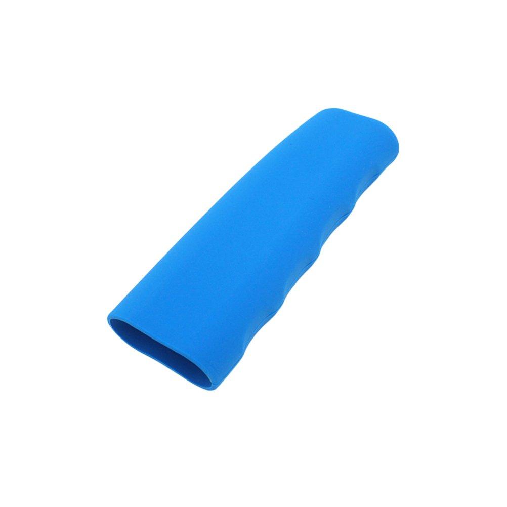 VORCOOL Protector de la Cubierta del Freno de Mano Funda de Silicona Prá ctica Forma de Onda Universal (Azul)