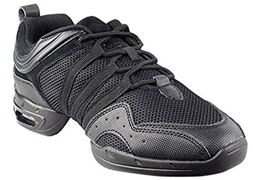 Unisex Dance Sneaker Black Leather bIUl4e0