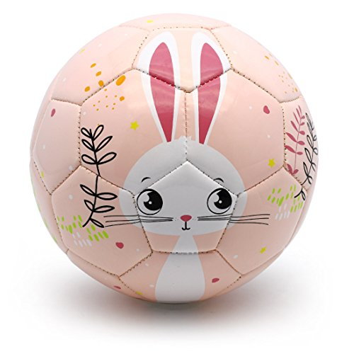 (PP PICADOR Toddler Soft Soccer Ball Cute Cartoon Kids Ball Toy Gift with Pump (Pink Bunny, Size 1))