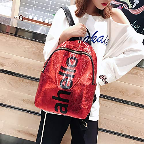 WILLTOO Sequins Travel Bags Bags Fashion Capacity Women Red Bag Large Backpack rnBqXr6wf