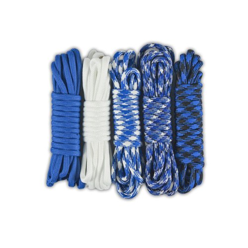 Paracord-Planet-550lb-Paracord-Combo-Crafting-Kits-5-Colors-50-Feet-Total