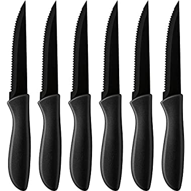Cuisinart 6-pc. Ceramic Coated Steak Knife Set (Black), Black