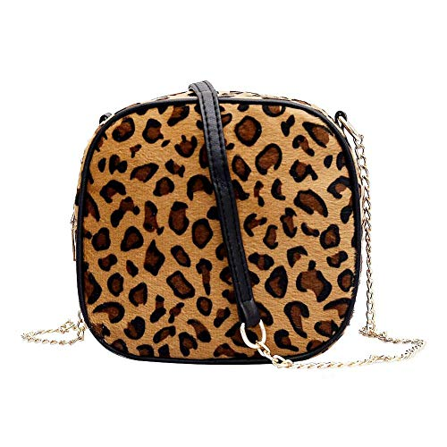 Amazingdeal Messenger Bag Women Chain Animal Print Shoulder Crossbody Bags  (Light Brown 0a773aa702b10