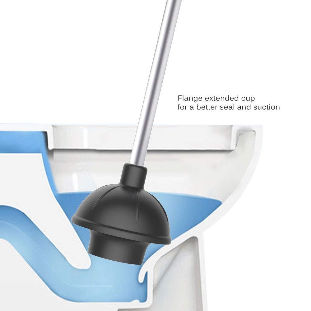 SIGA 2 Way Rubber Toilet Plunger Aluminium Handle MR
