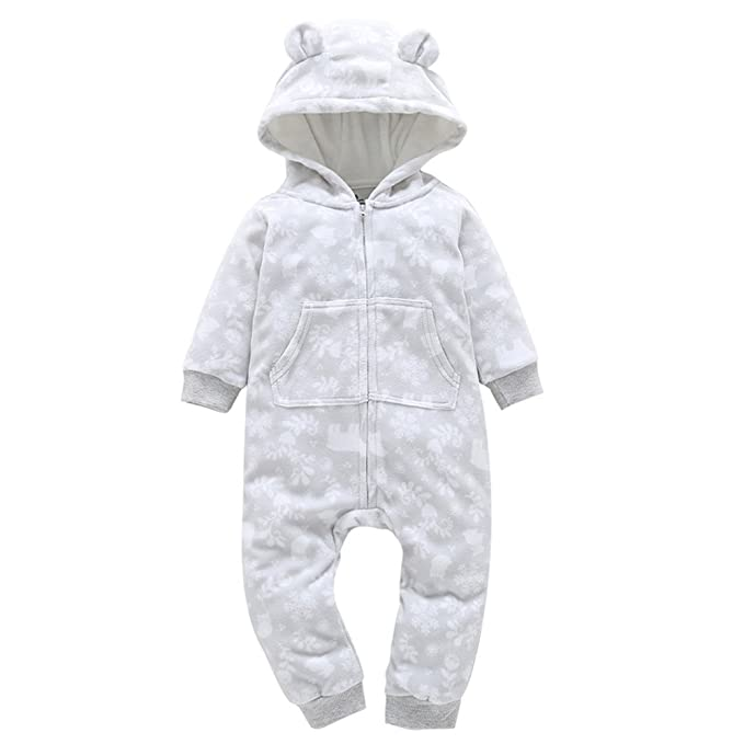 Subfamily Bebé de Navidad de Manga Larga Estampado de Copo de Nieve Grueso Ropa  de Harbin 06654a20848