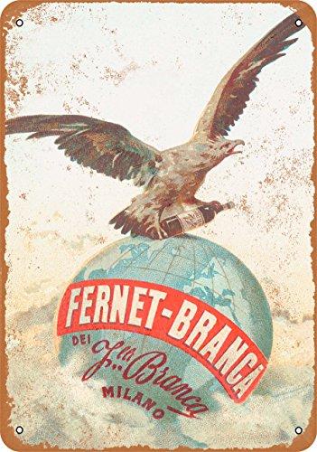 Wall-Color 9 x 12 METAL SIGN - 1892 Fernet-Branca Liqueur - Vintage Look Reproduction Fernet Branca Liqueur