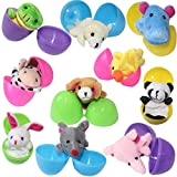 """10Pcs Finger Puppets Filled Bright Colorful 2.5"""" Easter Eggs"""