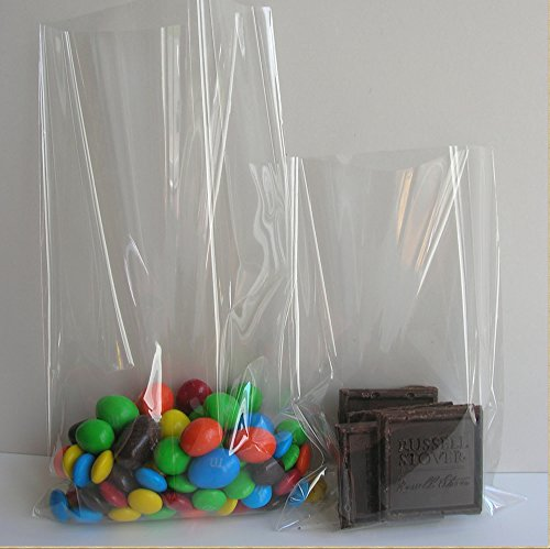 Weststone - 100pcs 6'' x 8''- 1.5mil Crystal Clear Cello Bags Treat Bags Flat Top Open for Cake Pop, Lollipop Candy or Small Homemade Arts by Weststone