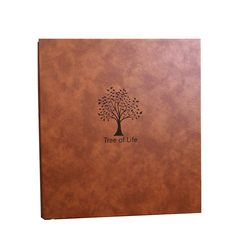 DIY Photo Album, 770 Mass Picture Storage, Advanced Quality Brown Leather Cover, Hand Made Waterproof Family Albums Holds Photos, Coffee Large, for Gifts by GNSDA