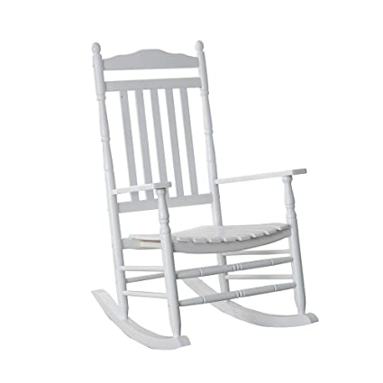 Astonishing Bz Kd 22W Wooden Rocking Chair Porch Rocker White Outdoor Traditional Indoor Bralicious Painted Fabric Chair Ideas Braliciousco