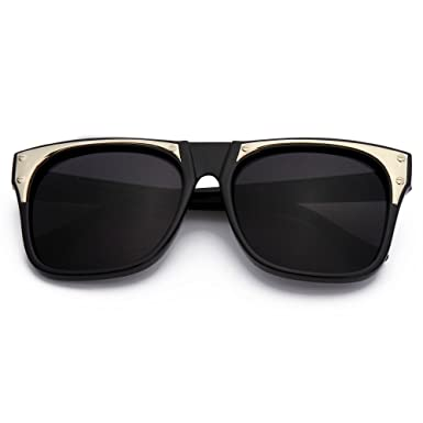 fe74bfd800 Menton Ezil Black Lens Huge Oversized Dark Square Frame Vintage Style  Sunglasses Womens Fashion