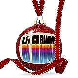Christmas Decoration Retro Cites States Countries La Coru?a Ornament