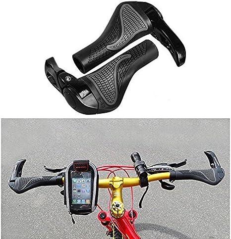 Aolvo VTT Poignées de guidon, ergonomiques ajustement universel 22 ...
