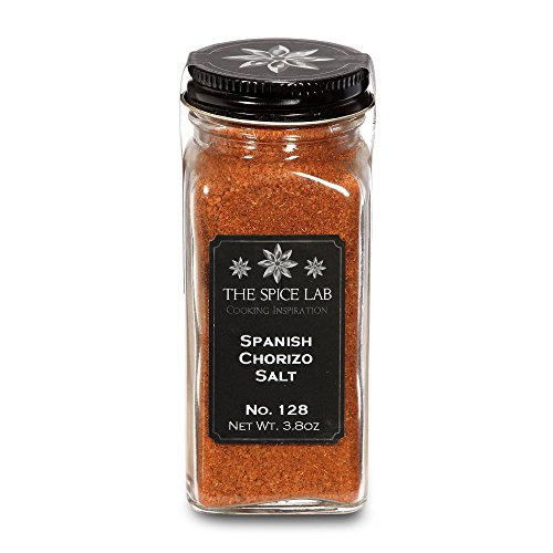 The Spice Lab No. 128 - Spanish Chorizo Salt - Gluten-Free Non-GMO All Natural Premium Gourmet Salt - French Jar
