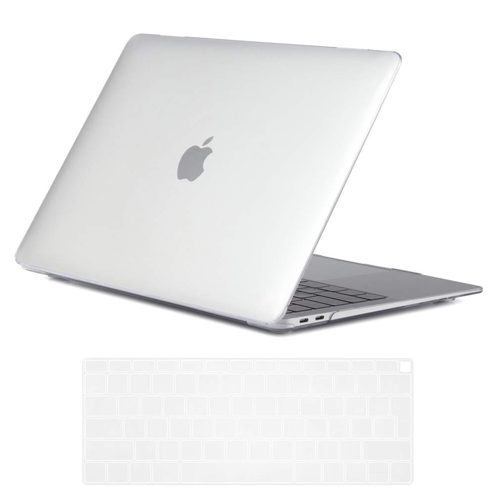 Crystal Transparent Se7enline New MacBook Air Case 2018 Release Crystal Plastic Hard Shell Carrying Case Cover for MacBook Air 13-Inch with Touch ID Newest Version Model A1932 with Keyboard Cover
