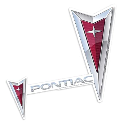 Pontiac Logos Collectible Stickers: Home & Kitchen