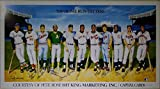 500 Home Run Club (11) Signed Poster Mantle Williams Aaron Mays JSA LOA #X61814 - Autographed MLB Art