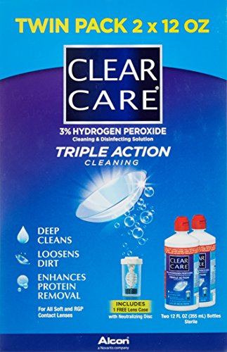 047113609027 - Clear Care 3% Hydrogen Peroxide Cleaning & Disinfecting Solution - 2 x 12 oz carousel main 2