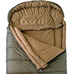 TETON Sports Regular Sleeping Bag; Great for Family Camping; Free Compression Sack 13 COMFORTABLE SLEEPING BAG: Soft lining; Half-circle mummy style hood keeps you warm and your pillow clean; Unzips on each side for airflow and easy access; For camping in three seasons NEVER ROLL YOUR SLEEPING BAG AGAIN: TETON provides a great compression sack for stuffing your sleeping bag; Start at the bottom and stuff the bag in, then tighten the heavy-duty straps STAY WARM IN COLD WEATHER: You'll be warm and rested in this sleeping bag; Innovative fiber fill, double-layer construction and draft tubes work together to keep the warmth in