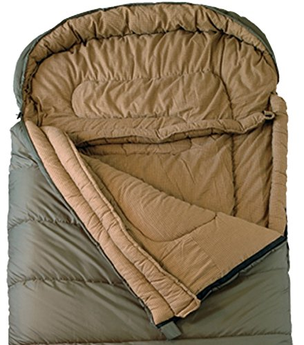 TETON Sports Regular Sleeping Bag; Great for Family Camping; Free Compression Sack 3 COMFORTABLE SLEEPING BAG: Soft lining; Half-circle mummy style hood keeps you warm and your pillow clean; Unzips on each side for airflow and easy access; For camping in three seasons NEVER ROLL YOUR SLEEPING BAG AGAIN: TETON provides a great compression sack for stuffing your sleeping bag; Start at the bottom and stuff the bag in, then tighten the heavy-duty straps STAY WARM IN COLD WEATHER: You'll be warm and rested in this sleeping bag; Innovative fiber fill, double-layer construction and draft tubes work together to keep the warmth in