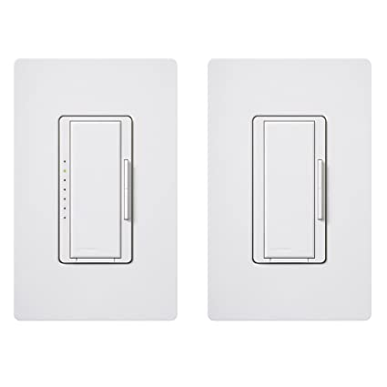Lutron MAW603RH-WH Electronics Maestro 3-Way Duo Dimmer, White ...
