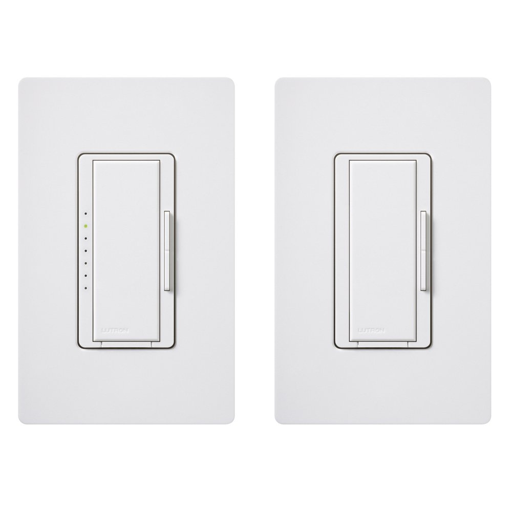 Lutron Maestro C.L Dimmer Kit for dimmable LED, Halogen and Incandescent Bulbs, Single-Pole/3-Way/Multi-Location, MACL-153M-RHW-WH, White