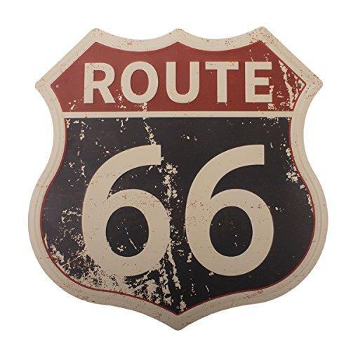 HANTAJANSS Ruta 66 Señales clásico Carretera Carteles para Decoración del Hogar 11.5'x12', Route 66, Estándar