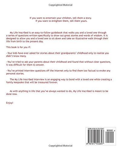 Superior My Life Inscribed: An Easy To Follow Interview Guide For Capturing  Your Loved Oneu0027s