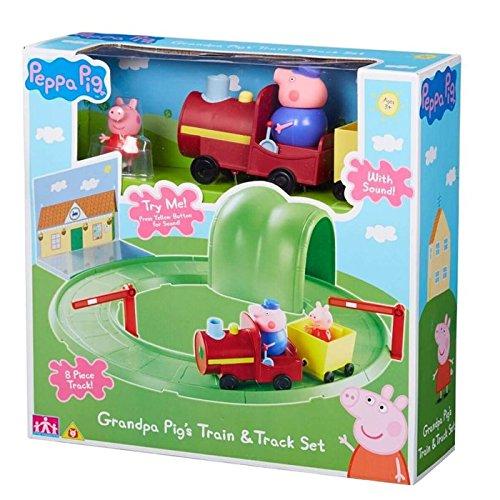 (Peppa Pig Grandpa Pig's Train & Track Set With Sound)