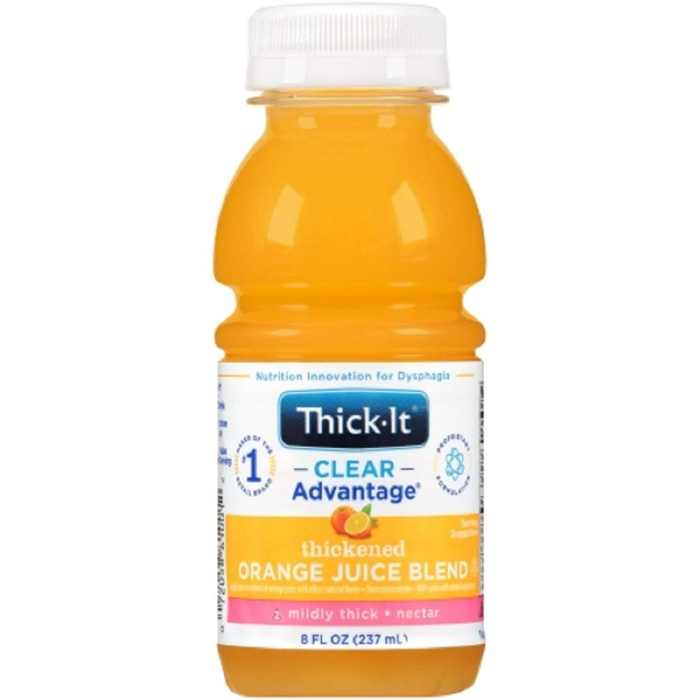 Thick-It AquaCare H2O: Pre-Thickened Orange Juice, Nectar-thick liquid, (1 Case: 24 x 8 oz. Bottles)