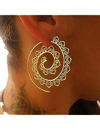 Golden Helix Earrings Vintage Heart Shape Cuff Earrings for Women