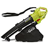 Garden Gear Leaf Blower Vacuum & Shredder Mulcher, Electric 3 in 1, Variable Speed with Large 45L Capacity Collection Bag, 10:1 Shredding Ratio, 10m Cable, 3000W