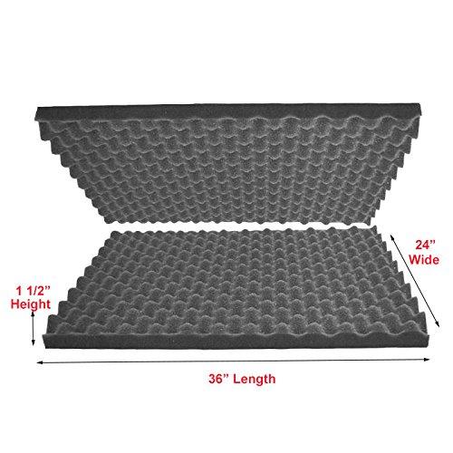 "Hot 2""x24""x36"" Polyurethane Charcoal Convoluted Foam Packing Foam Set supplier"