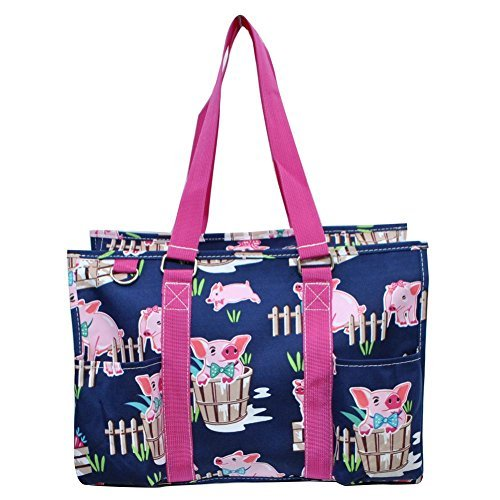 N Gil All Purpose Organizer Medium Utility Tote Bag 3 (Pig Hot Pink)