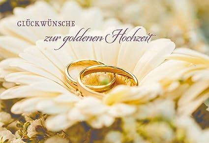 Tarjeta de felicitación, Felicidades para bodas de oro (6 St ...