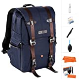K&F Concept DSLR Camera Backpack Multifunctional Waterproof Nylon Bag with 30L Large Capacity for 14 Laptop,Camera, Lenses,Tripod and Photography Accessories
