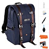 K&F Concept DSLR Camera Backpack Multifunctional Waterproof Nylon Bag with 30L Large Capacity for 14'' Laptop,Camera, Lenses,Tripod and Photography Accessories