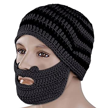 7daa7087916 Plat Firm Handmade Winter Cap Hat Woolen Knitted Crochet Mustache Beard  Warm Mask Ski  Amazon.co.uk  Sports   Outdoors