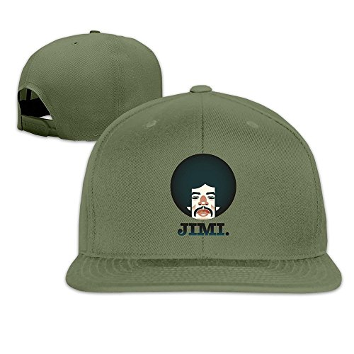 Jimi Hendrix Cap (Jimi Hendrix American Rock Songwriter Flat Cap Cool Snapback Hat Summer Custom Snapback)