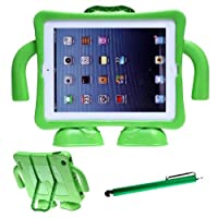 Aenmil(TM) Series EVA Kids Light Weight Friendly Shock Proof Stand Case Cover for iPad 4 iPad 4th Generation iPad with Retina Display the for iPad 3 3rd Generation & for iPad 2 + Free Gift 1x Stylus Pen +1x Screen Film Protector from Tenmil2013