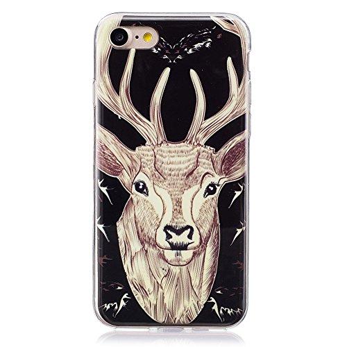 Noctilucent IMD TPU Gel Tasche Hüllen Schutzhülle - Case für iPhone 7 4.7 - Elk Pattern
