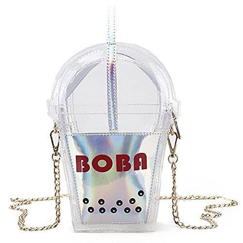 Shaped Bag Bag Jelly color Funny Bag Onfahion Sliver Small Evening Shoulder Cup Handbag Laser Clutches OEC4xv
