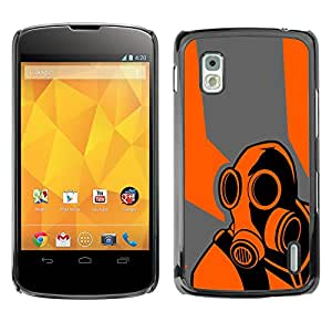B0rderlands juego Psycho - Metal de aluminio y de plástico duro Caja del teléfono - Negro - LG Nexus 4 E960