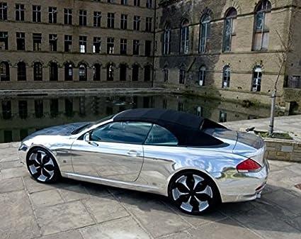 SKYMEX VINYL WRAP Envoltura de vinilo plateado efecto espejo cromado para coche, permite liberación de aire, queda sin burbujas, 30 cm x 1.52 m: Amazon.es: Coche y moto