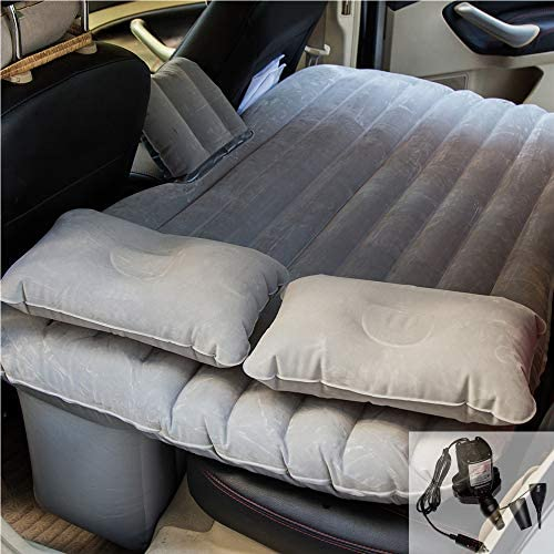 goldhik Car Travel Inflatable Mattress Flocking Air Bed Camping Universal SUV Back Seat Extended Air Couch Two Air Pillows
