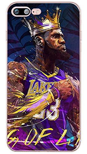 King James Lebron Lakers iPhone Case -TPU Silicone, Slim, Protective Case- Select Sizes (King of LA, iPhone 7/8)